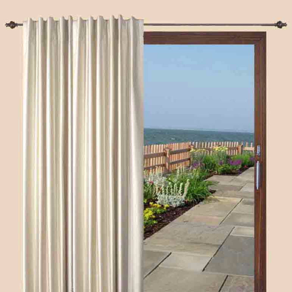 ... Fontaine BackTab Pleated Room Darkening Patio Panel Zoom