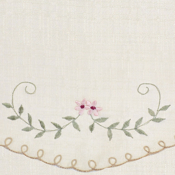 Forget-Me-Not Embroidered Fabric Shower Curtain