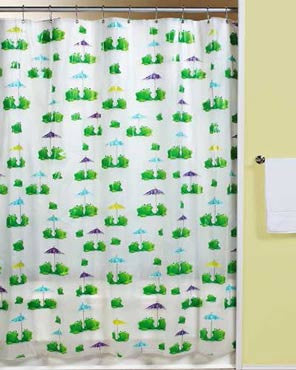 Frogs -Peva -Shower Curtain
