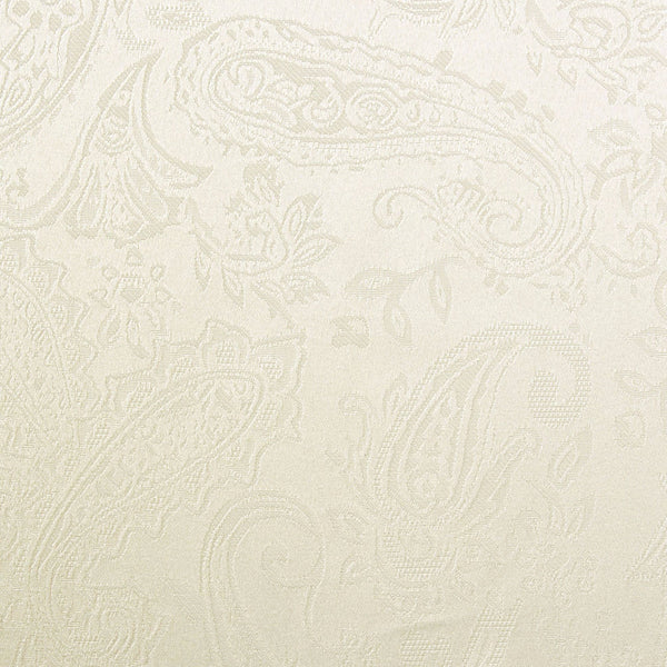 Closeup shot of ivory Gabrielle Insulated Panel Pair fabric
