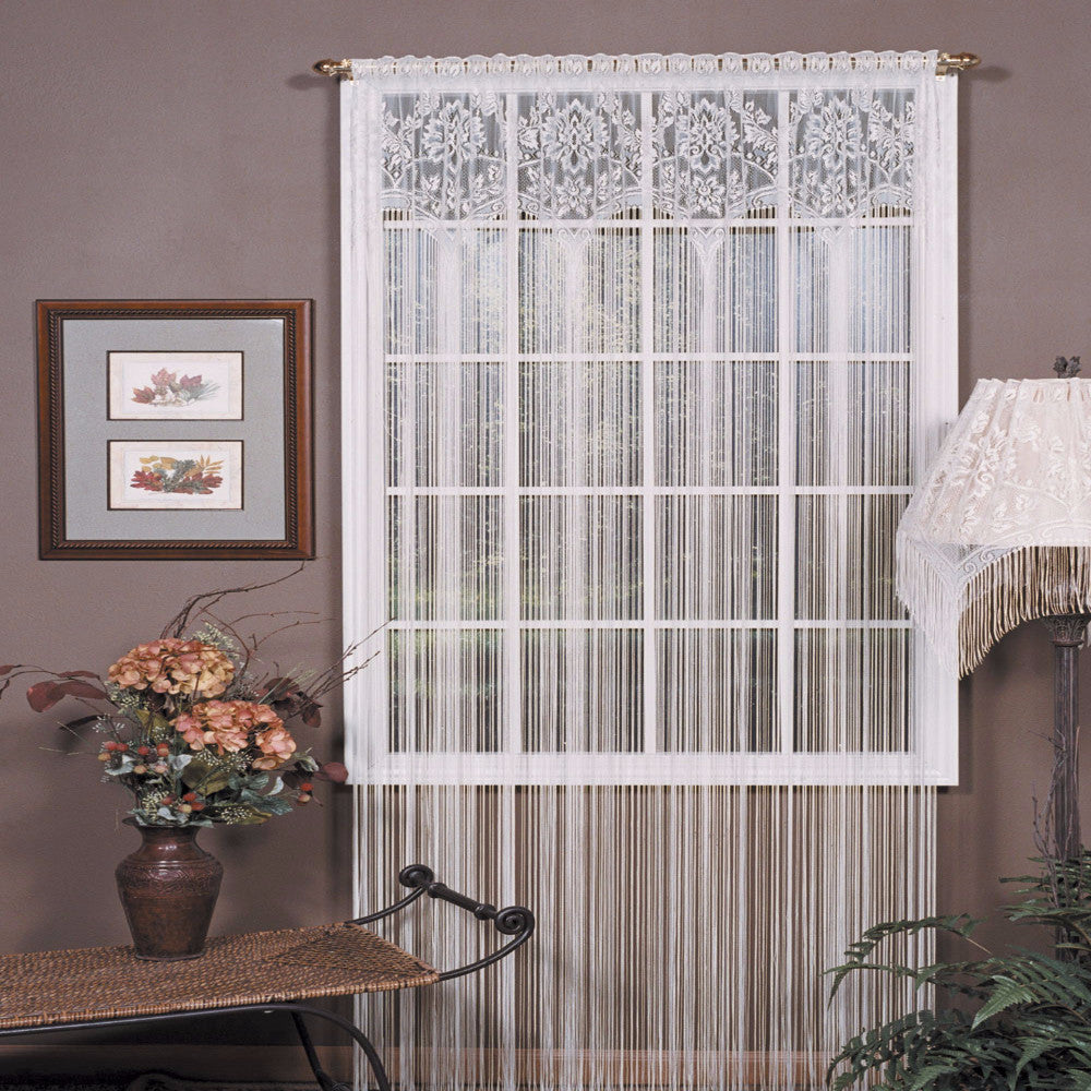 Lace Window Treatments Gala Lace String Panel Heritage Lace Curtainshopcom