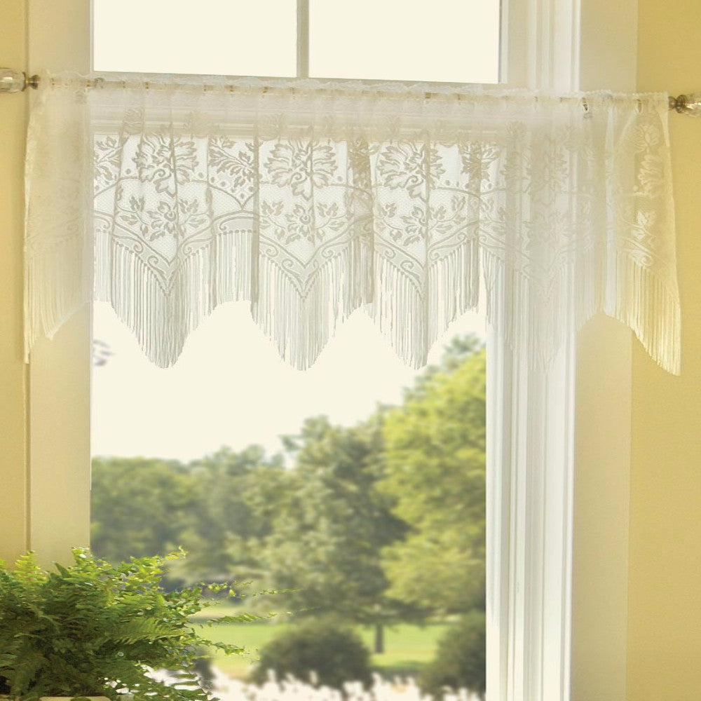 Gala Valance hanging on a curtain rod