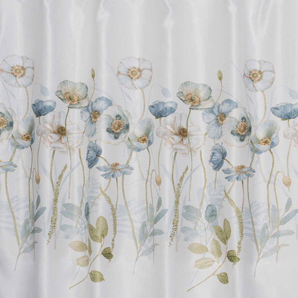Close up shot of Multi Garden Melody Fabric Shower Curtain fabric