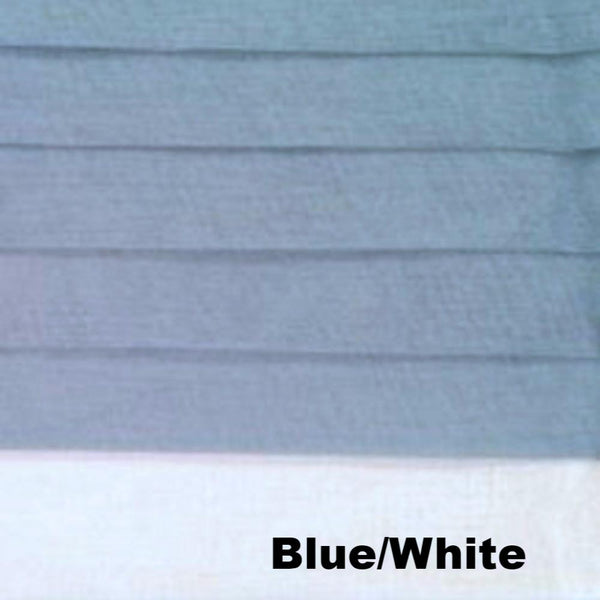 close up shot of Blue/White Geneva Semi Sheer Patio Grommet Top Panel fabric