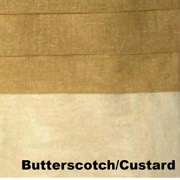 close up shot of Butterscotch/Custard Geneva Semi Sheer Patio Grommet Top Panel fabric