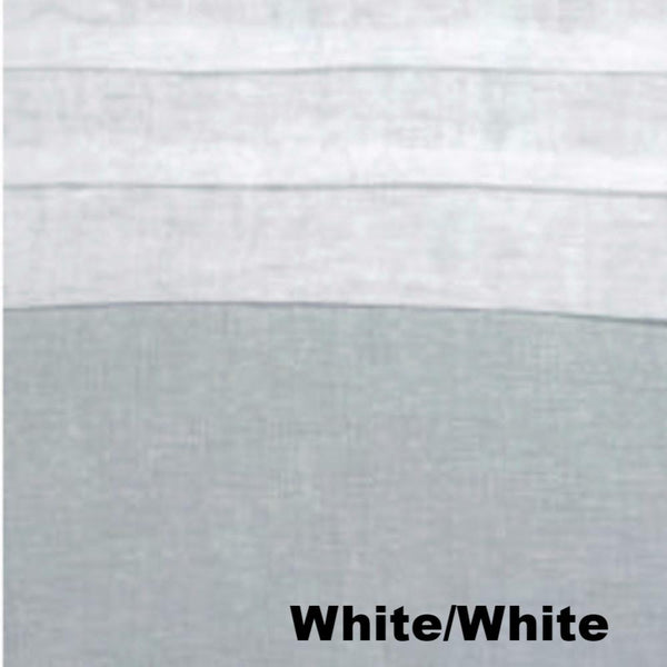 close up shot of White/White Geneva Semi Sheer Patio Grommet Top Panel fabric