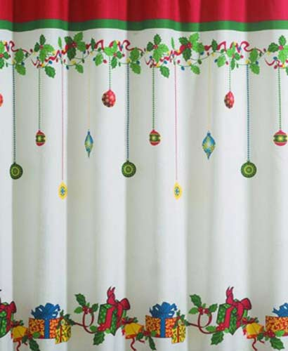 Linen Lorraine Home Fashions: Gift Boxes Fabric Shower Curtain/Lorraine Home Fashions