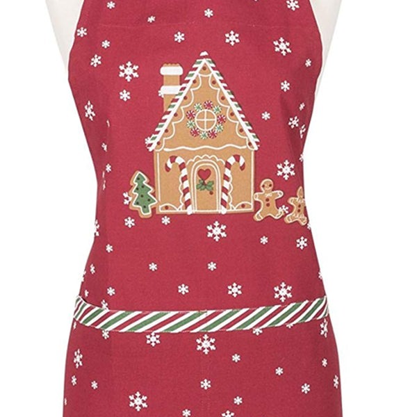 Close up shot of Gingerbread Adult and Child Apron fabric