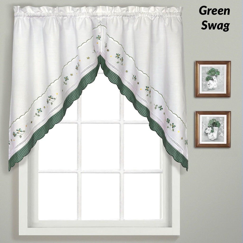 Gingham Kitchen Valance Swags And Tier Curtains United