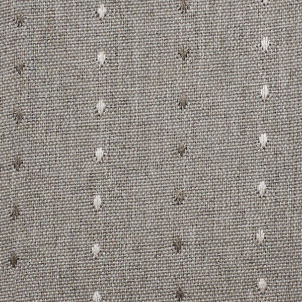 Close up of Smoke Grand Pointe Back Tab Panel fabric