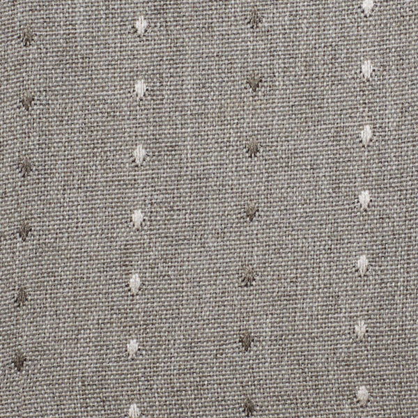 Closeup shot of smoke Grand Pointe Grommet Panel fabric