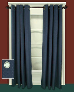 Green Grand Pointe Grommet Panel hanging on  a decorative curtain rod
