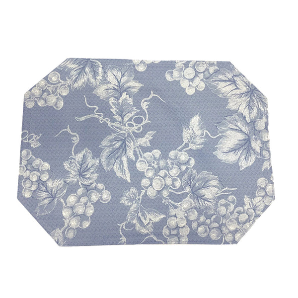Grapevine-Vinyl-Placemat-Blue