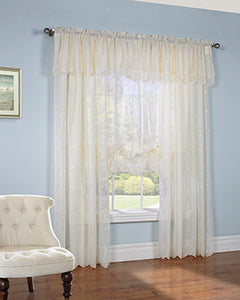 Hathaway Sheer Embroidered Panel and Valance