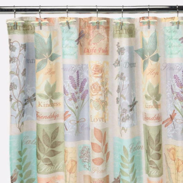 Closeup shot of Multi Harmony Fabric Shower Curtain fabric