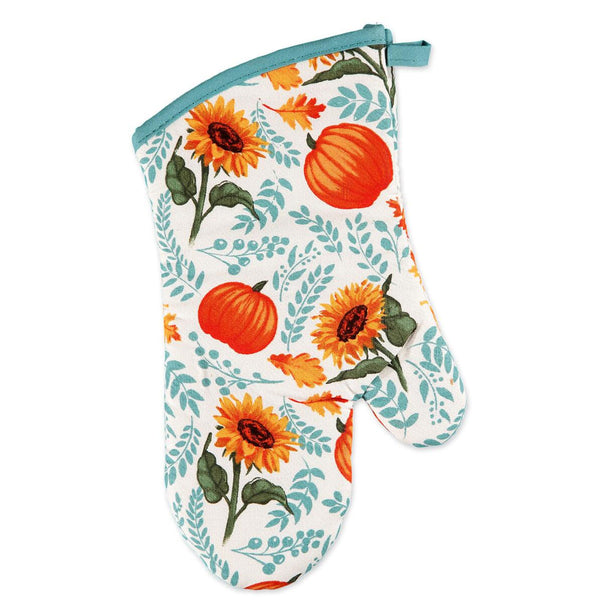 Multi Harvest Delight Kitchen Towel, Oven Mitt and Pot Holder Oven Mitt