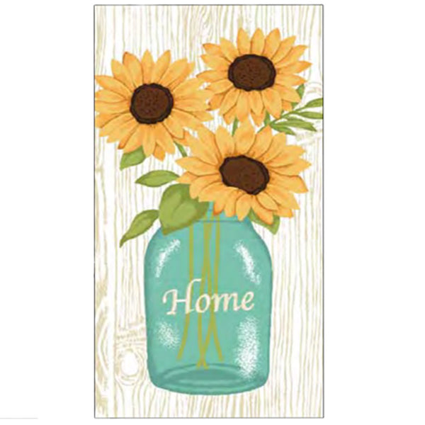 Harvest Kitchen Towel collection sunflower ball jar ivory