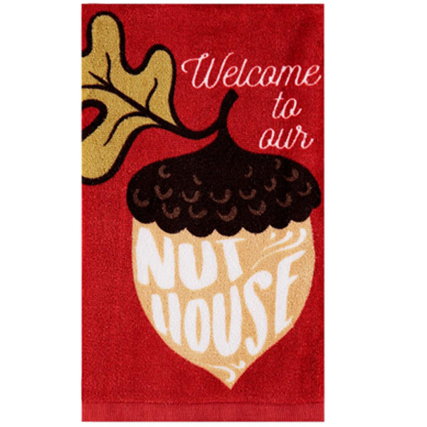 Harvest Kitchen Towel collection the nut house brick