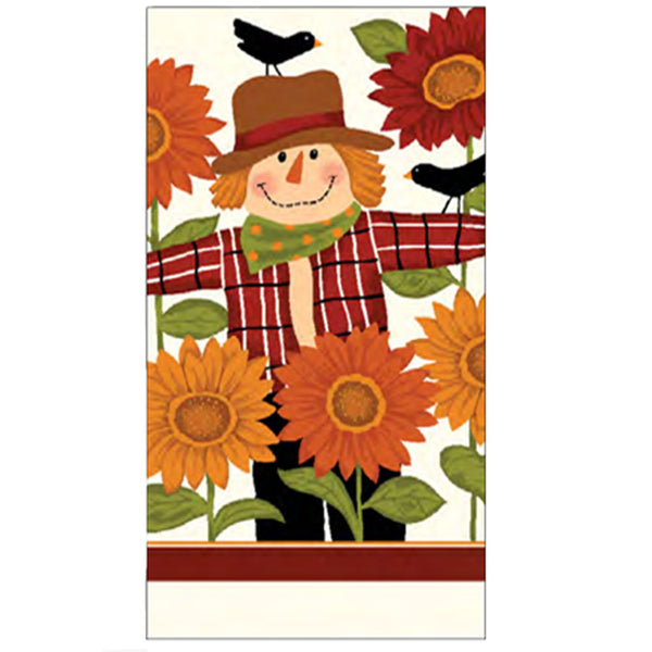 Harvest Kitchen Towel collection sunny scarecrow multi