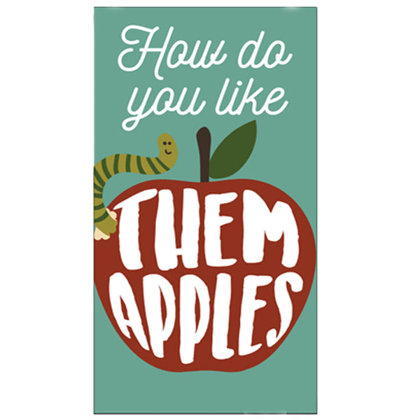 Harvest Kitchen Towel collection them apples teal