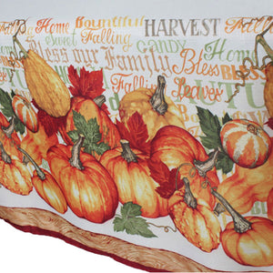 Closeup of Harvested Textured Fabric Tablecloth