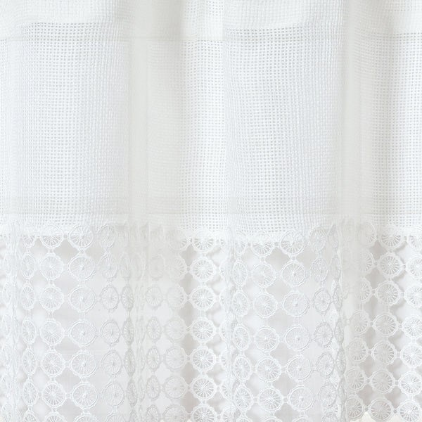 Hayden Grommet Top Panel and Valance with Macrame Bands