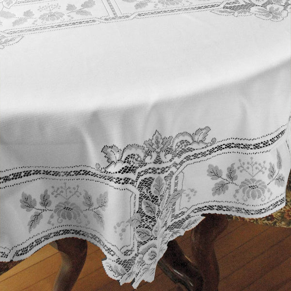 Heirloom Lace Fabric Tablecloth