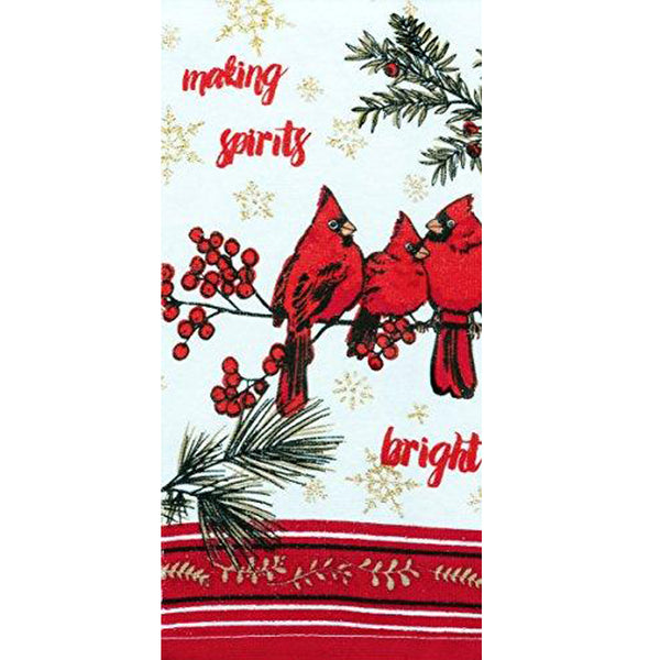 Holiday Cardinal Kitchen Towel Set Kitchen Towel