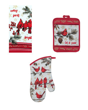 Holiday Cardinal Kitchen Towel Set