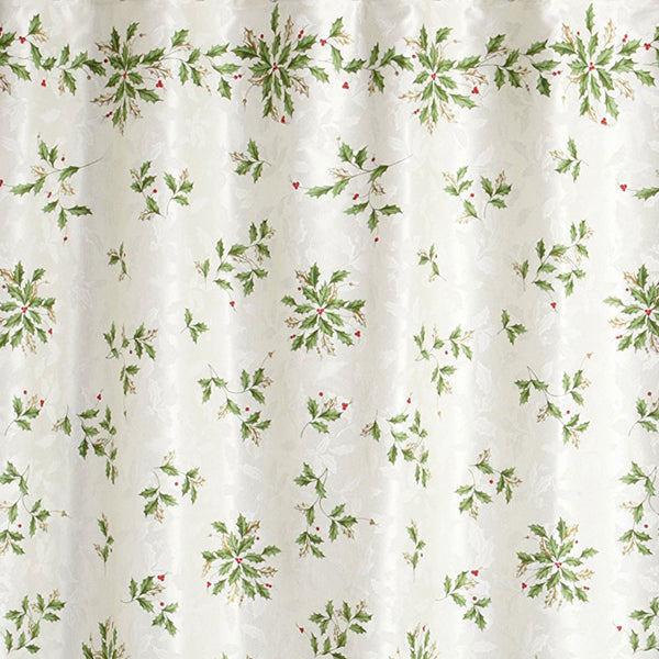 Closeup of Multi Lenox Holiday Fabric Shower Curtain fabric