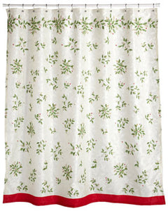 Multi Lenox Holiday Fabric Shower Curtain