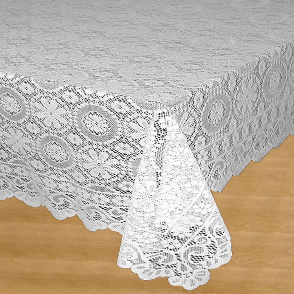 Hopewell Jacquard Lace Fabric Tablecloth
