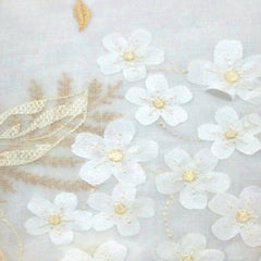 Hydrangea-Faux-Linen-Panel-and-Valance-White-Zoom
