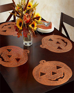 Jack O' Lantern Set of 4 Placemats