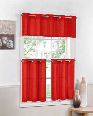 Jackson Kitchen Valance and Tier Curtains