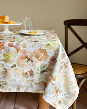 Joanie Indoor Outdoor Textured Fabric Tablecloth