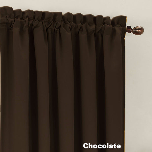 Close up Chocolate Sun Zero Julian Room Darkening Panel fabric