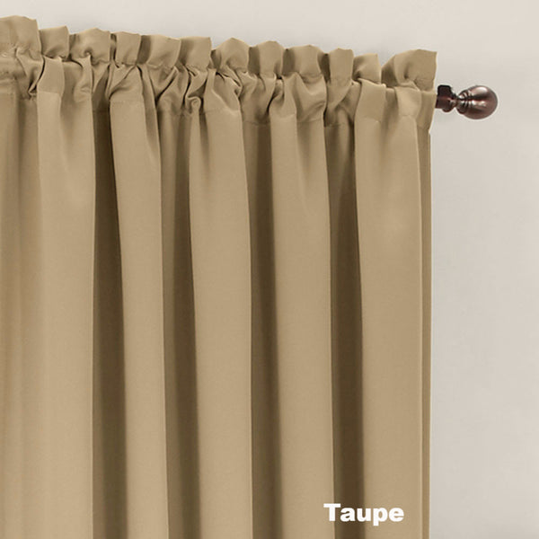 Close up Taupe Sun Zero Room Darkening Panel fabric