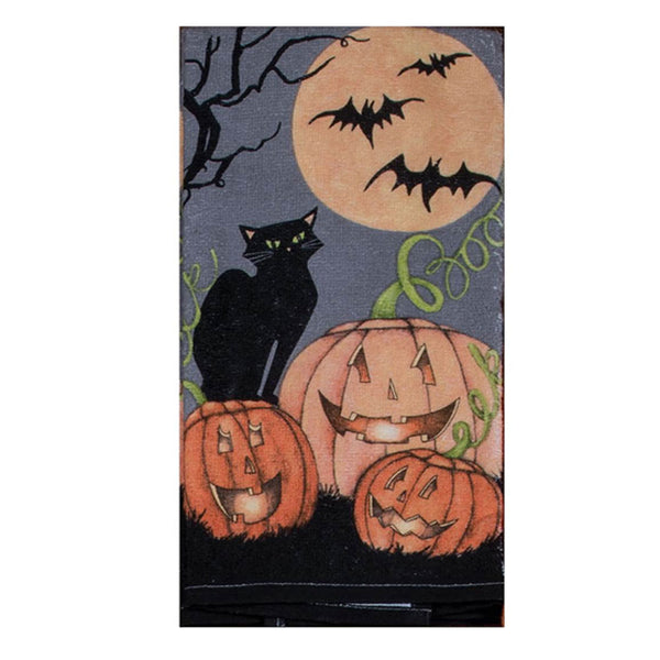 Halloween Kitchen Terry Towel boo pumpkin
