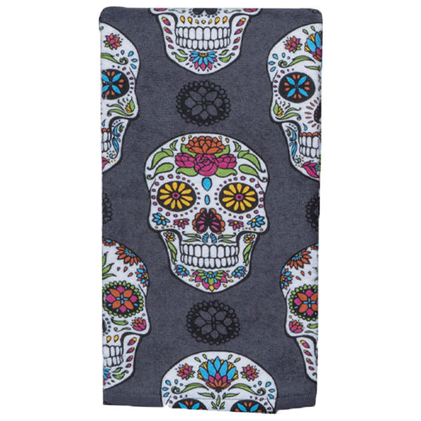 Halloween Kitchen Terry Towel sugar skull
