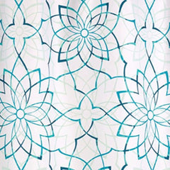 Kenzie-Floral-Fabric-Shower-Curtain-Teal-Zoom