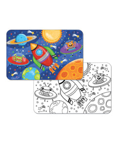 Kids Space Ship Reversible Placemat