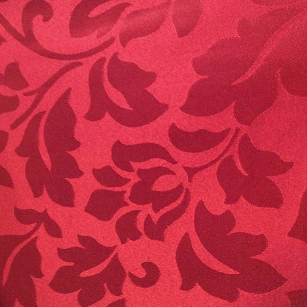 Close up shot of Crimson Leah Jacquard Grommet Panel fabric