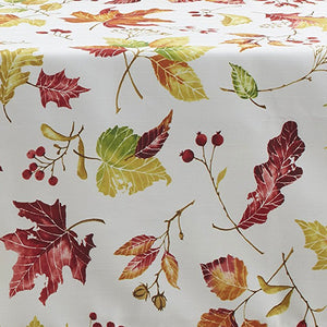 Closeup of Leaves of Change Fabric Tablecloth