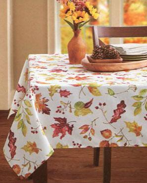 Leaves of Change Fabric Tablecloth