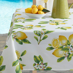 Lemon Bliss Indoor/Outdoor Spill Proof Tablecloth