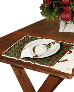 Lenox Holiday Nouveau Reversible Quilted Placemat