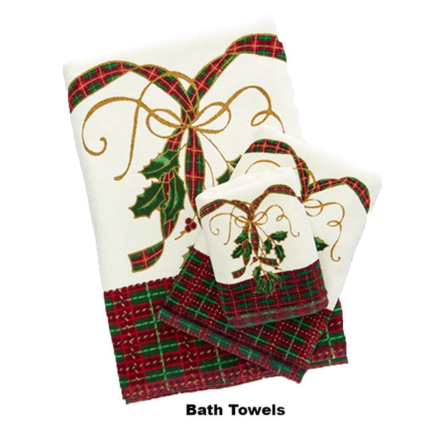 Multi Lenox Holiday Nouveau Fabric Shower Curtain towel set