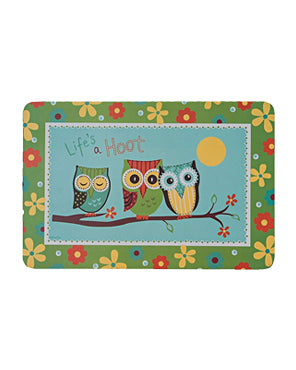 Life's a Hoot Foam Backing Vinyl Placemat
