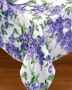 Lilac Vinyl Tablecloth